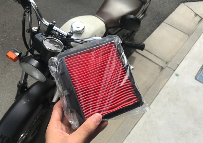 バイク エアクリ 交換