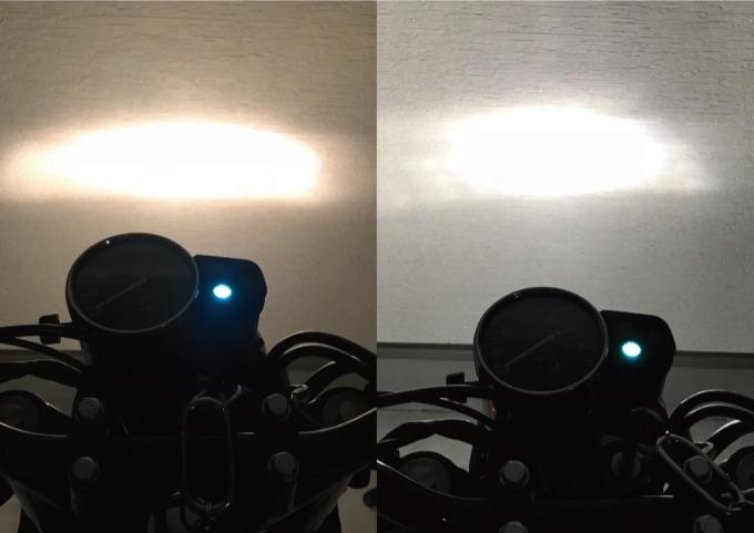 LEDヘッドライト ハロゲンバルブ 比較