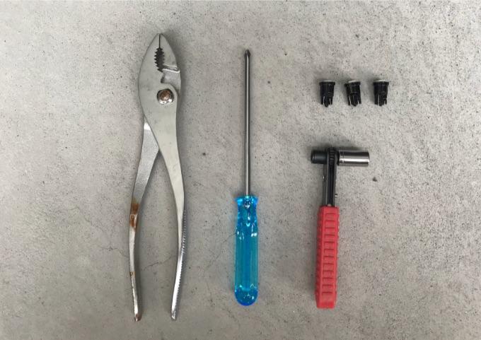 バイク メーターLED化 工具