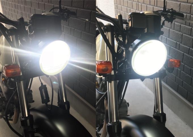 LEDバルブVS純正球比較