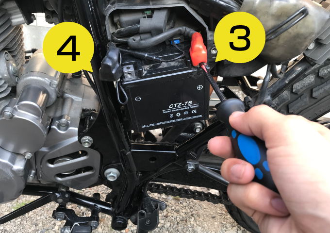 バイク バッテリー 交換方法