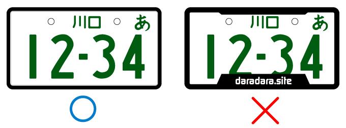 バイク ナンバープレート フレーム