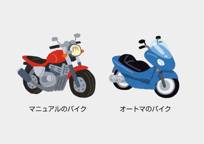 バイク免許 AT MT 違い