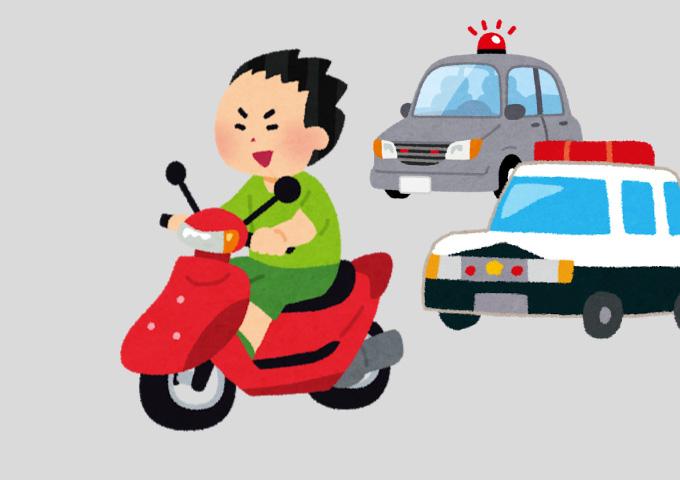 バイク二人乗り ノーヘルメット 違反金