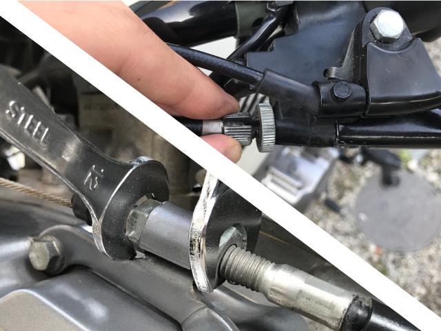 バイク クラッチ調整 2種類