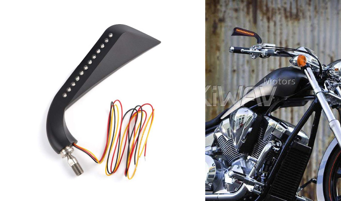 バイク ミラー  LED