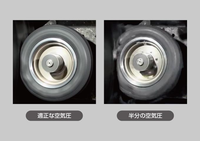 タイヤ空気圧 バースト スタンディングウェーブ現象