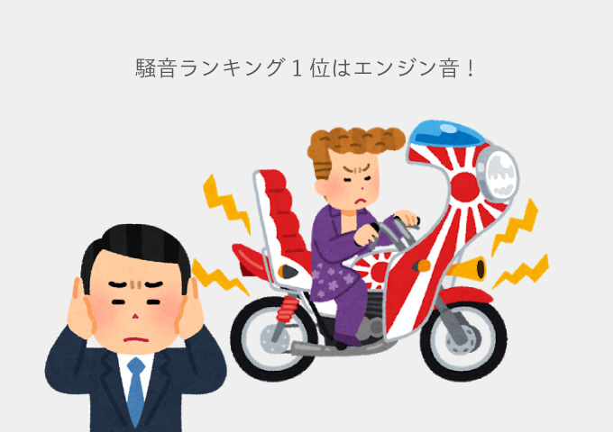 騒音ランキング 1位 バイク