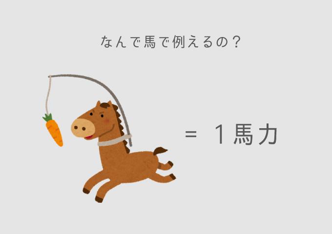 馬力とは? なぜ馬?