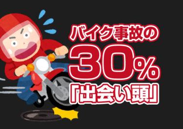 バイク事故の3割が「出合い頭」事故率や原因から安全対策を考えよう