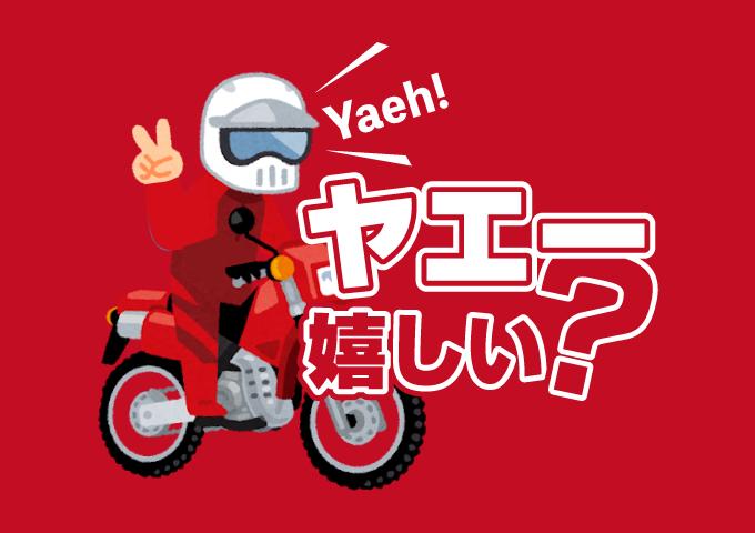 バイクの挨拶 ヤエー 相手