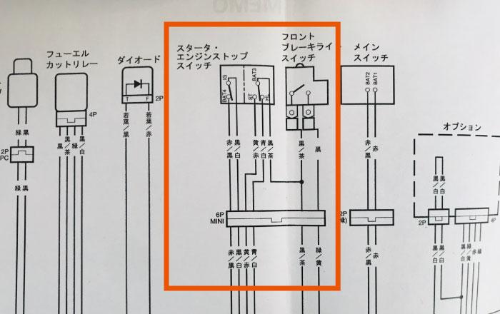FTR223 配線図 スイッチボックス