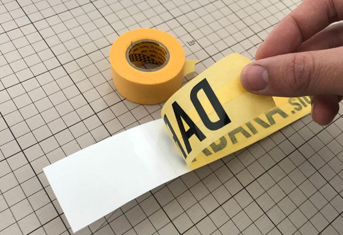 オリジナルステッカー 作り方 マスキングテープ