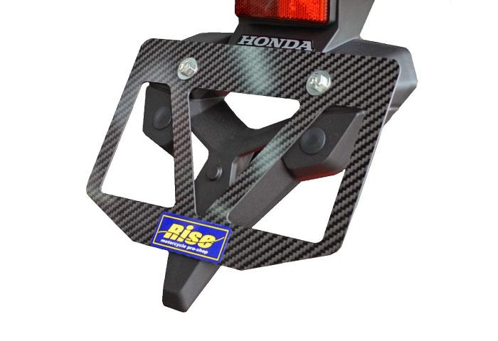 バイク ナンバープレートホルダー カーボン