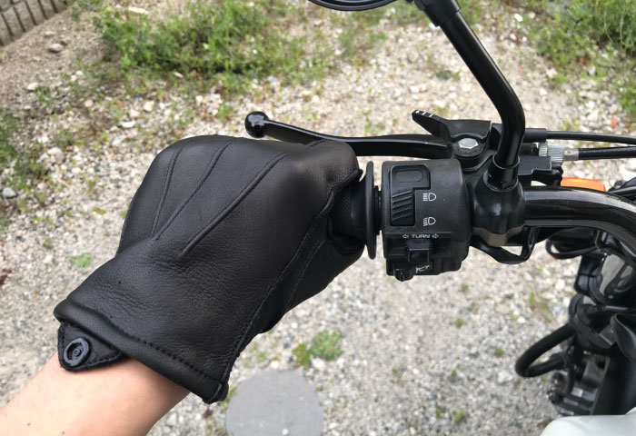 バイク用レザーグローブ MCG-02 感想