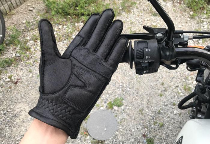 バイク用レザーグローブ レビュー シルエット