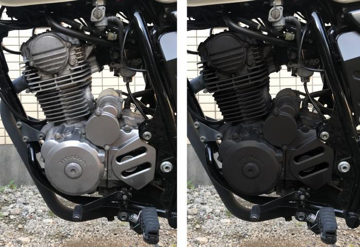 バイク エンジン塗装 黒