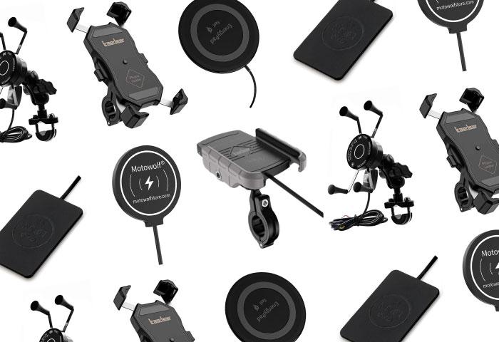 バイク ワイヤレス充電 スマホホルダー