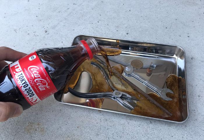 コカコーラ 錆び落とし やり方