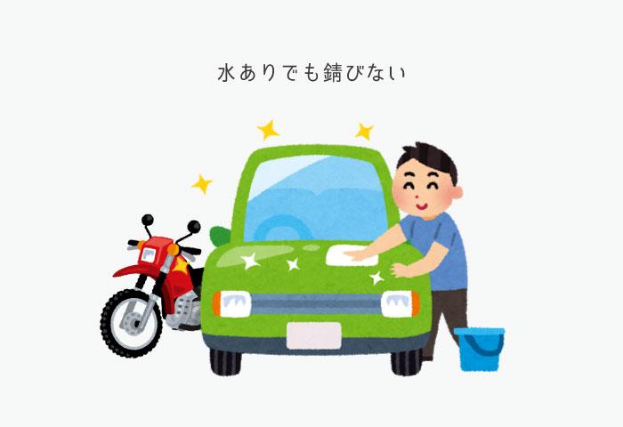 水なし洗車 やらない 錆び