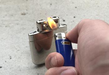 ハクキンカイロ 使い方 火