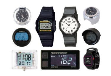 バイク用時計のおすすめ人気6選!電波時計、防水、超小型タイプなど