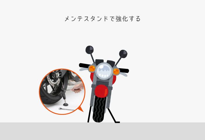 バイク 台風対策 スタンド
