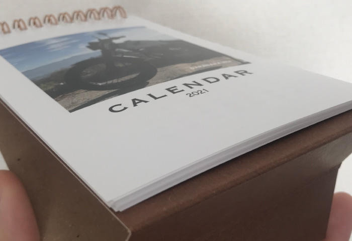 オリジナルカレンダー 富士フィルム 紙質