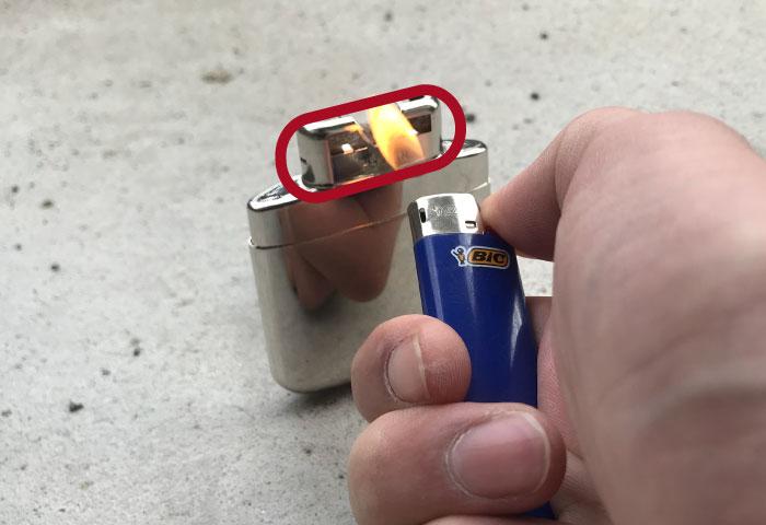 ハクキンカイロ 使い方 ライター