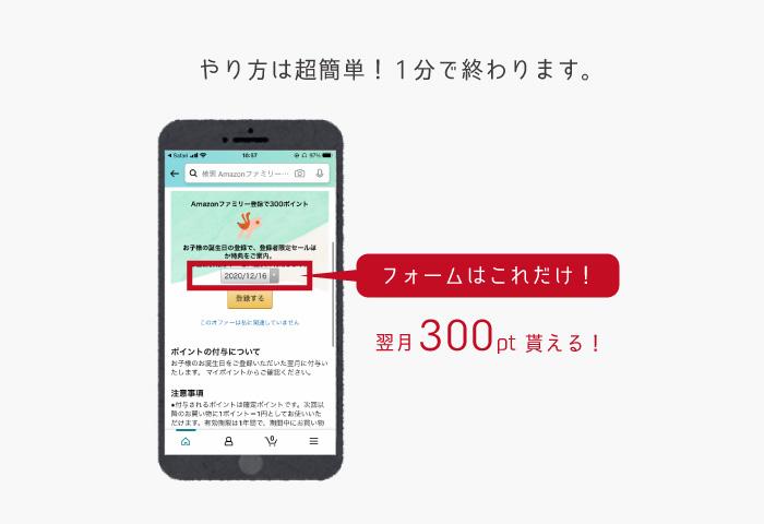 アマゾンファミリー 登録方法 ポイント