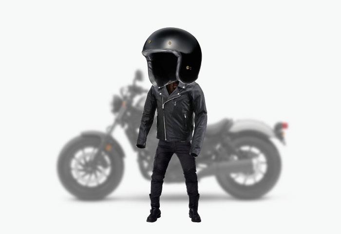 バイク ファッション 革ジャン