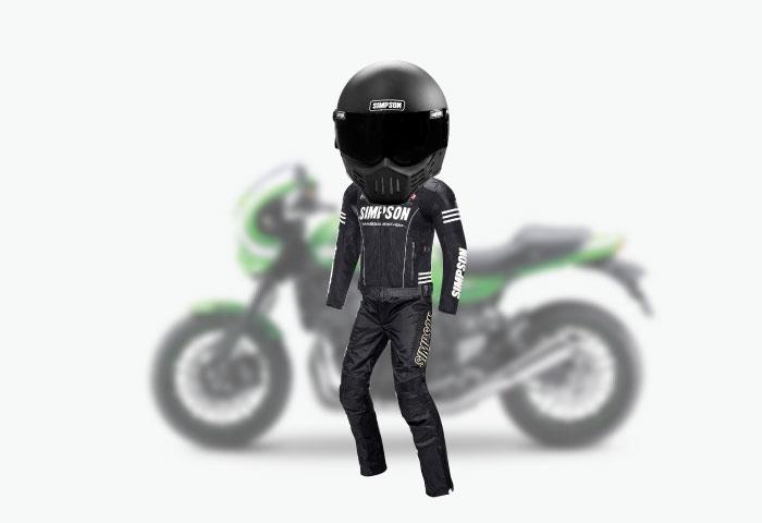 バイク ファッション 革
