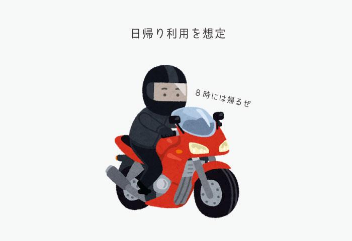 バイク 高速値下げ 日帰り