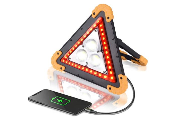 三角表示停止板 バイク LED