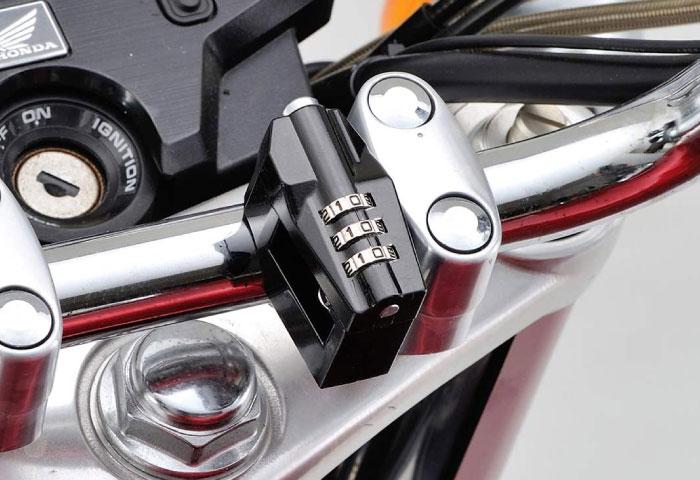 バイク ヘルメットロック ダイヤル