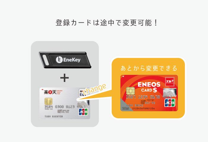 エネキー カード 変更