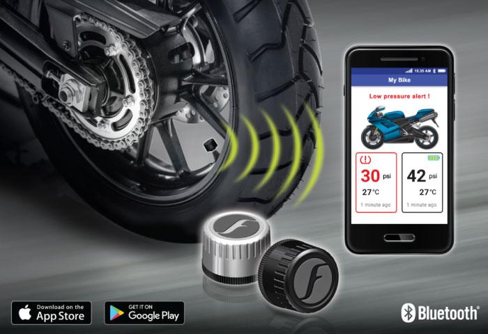 バイク タイヤ空気圧 空気圧センサー