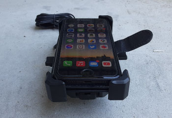 バイク用スマホホルダー QI充電 手帳