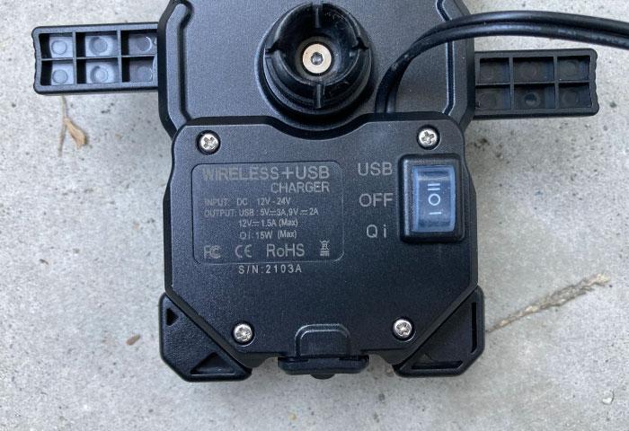 バイク用スマホホルダー QI充電 デメリット