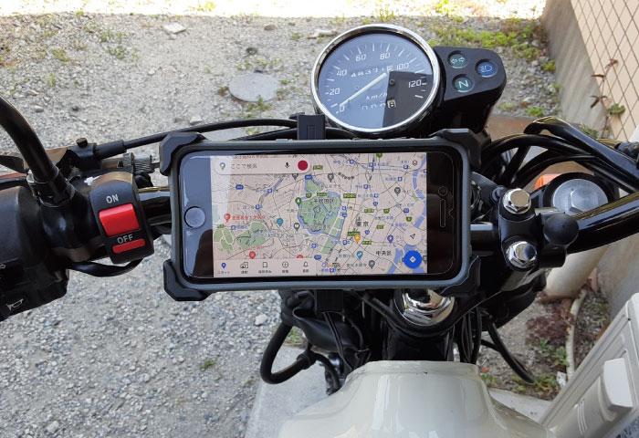 バイク用スマホホルダー QI充電 メリット