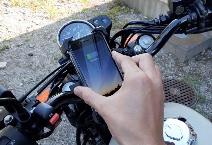 バイク用スマホホルダー 充電 メリット
