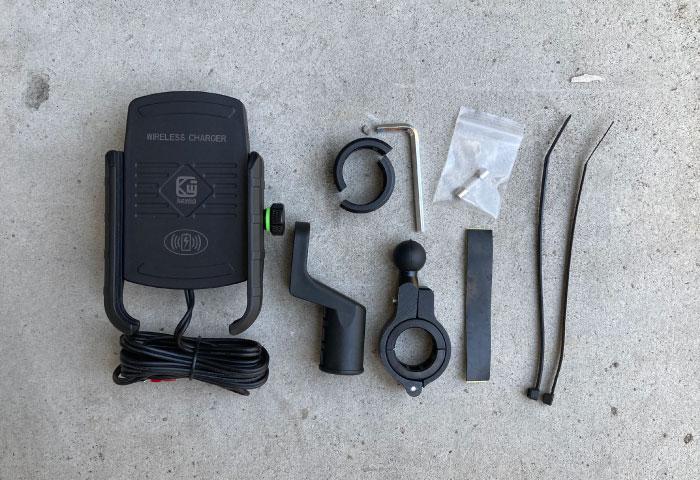 スマホホルダー ワイヤレス充電 付属品